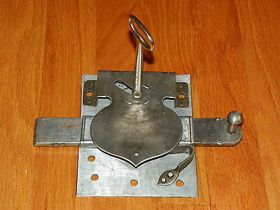 Vintage Steampunk Industrial Mid 1800's Prison Jail Made Lock Hand Forged Steel