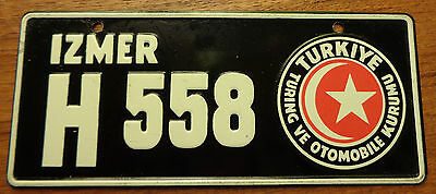 Bicycle License Plate Turkey 1953 Cereal Premium