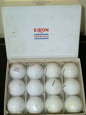 Vintage Exxon Chemicals promotional Golf Balls Box of 12.