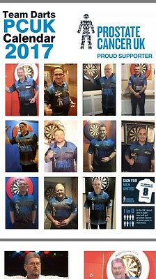 Prostate Cancer Uk  2017 Darts Calendar  £9.99 *official Fundraisers*