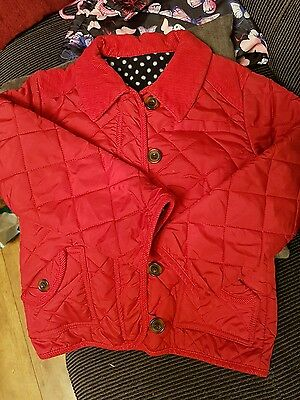 girls red coat age 7