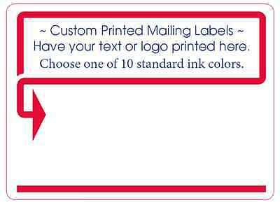 "1,000 Custom Printed Mailing Labels, 1 ink color 4"" x 3"" Shipping Box Stickers"