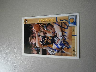 Rik Smits Indiana Pacers Hand Signed card