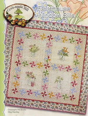 FARMHOUSE WINDOW SILLS QUILT EMBROIDERY PATTERN From Crabapple Hill Studio NEW