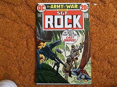 1973 DC Our Army At War Ft. SGT Rock #256 9.0