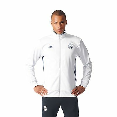 0d97558fc Adidas Men s Soccer Real Madrid 3-Stripes Track Jacket Football White  AP1840 New