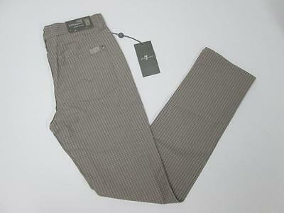 7 For All Mankind Boys Brown Tan Houndstooth The Straight Jeans 12 Nwt $79