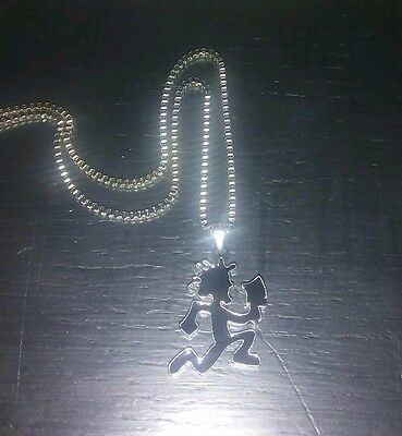 1 inch black Hatchet Man ICP necklace with Charm & Chain