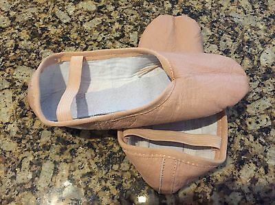 NEW Pink Leather Ballet Shoes Dance Size 6 -24  Cm