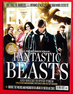 EMPIRE December 2016 FANTASTIC BEASTS 30 Greatest HARRY POTTER Characters ABRAMS