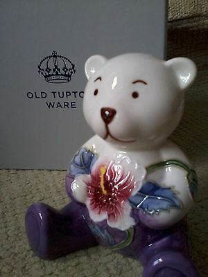 Old Tupton Ware Teddy Hibiscus pattern Lilac new in box