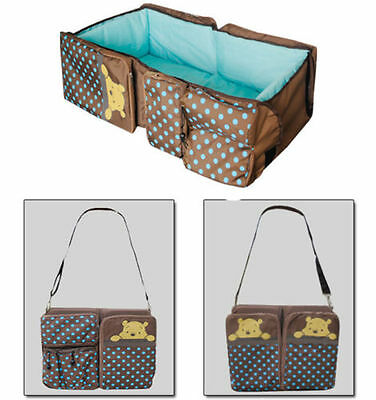 2 in 1 baby bag portable nursery bag infant travel foldable bed 80*40cm baby bed