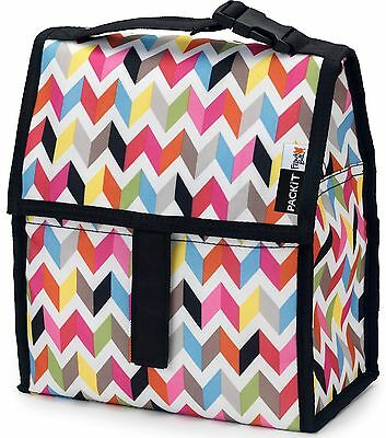 Packit, CA Freezable Lunch Bag with Zip Closure, Ziggy