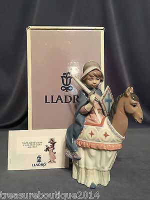 "~Mint~Very Rare & Adorable Lladro ""Medieval Lord""(6112 Christmas) Boy on Horse"