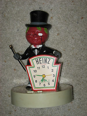 Vintage Heinz 57 Mr Tomato Clock Nice Condition Complete Clock Working