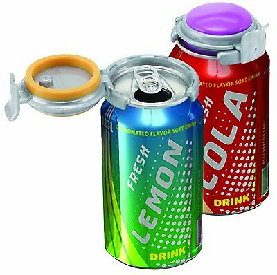 Jokari 0105101P3 Fizz-Keeper Can Pump and Pour, Assorted Colors, 3-Pack