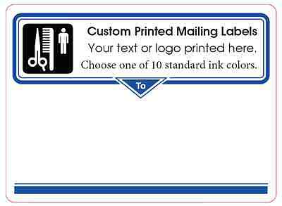 "Printed Mailing Labels, 1,000 Custom 4"" x 3"" Shipping Box Stickers, 1-ink color"