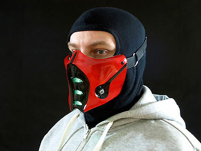 Mortal Kombat Sub-Zero Mask v.1 Red with green LEDs Airsoft Cosplay mask