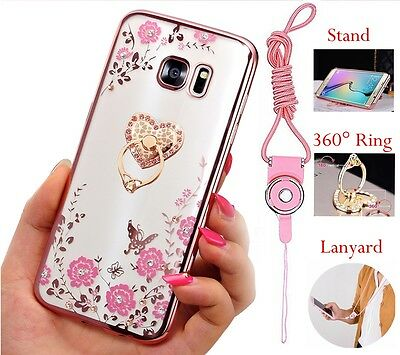 US Bling ShockProof Silicone TPU Soft Clear Case Stand Cover For Samsung Galaxy