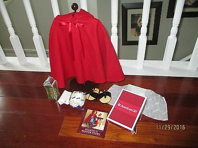 Retired American Girl Felicity's Cardinal Cloak Complete With Accessories New PC