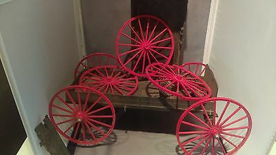 Johnny West Wagon Parts - 7 Wheels and 2 Buckboards - Cheap!