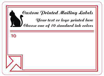 Printed Mailing Labels, 1,000 Custom 4x3 Business Shipping Stickers, 1-ink color