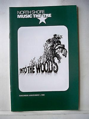 INTO THE WOODS Playbill STEPHEN SONDHEIM / BETSY JOSLYN North Shore MA 1990