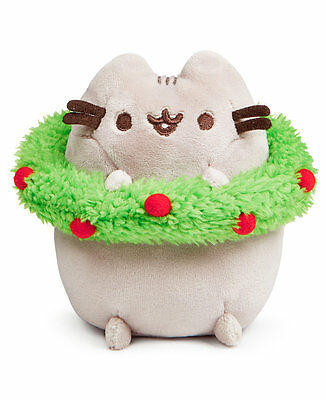 "Gund Pusheen Holiday Plush with Wreath 4.5"" 4053795"