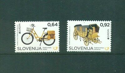 Slovenia 2013 Europa Transport Bike Coach set  MNH