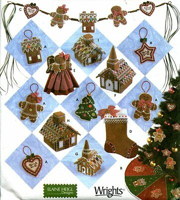 SIMPLICITY 4810 /2545 HOLIDAY Pattern CHRISTMAS GINGERBREAD Tree Skirt Ornaments