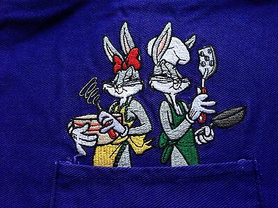 Rare Warner Brothers Looney Tunes Bugs & Honey Bunny Kitchen & Garden Aprons