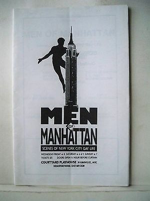 MEN OF MANHATTAN Playbill JOHN GLINES / T.L. REILLY / RICHARD SKIPPER NYC 1990