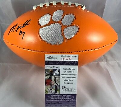 MIKE WILLIAMS signed Football CLEMSON TIGERS Orange Panel JSA Authenticated