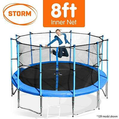 Storm 8FT Round Trampoline Safety Inner Net Set Spring Padding Cover Mat