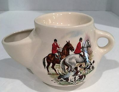 Vintage Hoffritz Hunting Scene Shaving Mug Fox Hunt