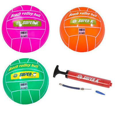 Super-K Water Beach Volleyball Size 8.5inch Volley Ball with Hand Pump Free Ship