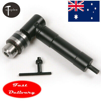 8mm Hex Shank Right Angle 90 Degree Drill Attachment Chuck Key Adapter