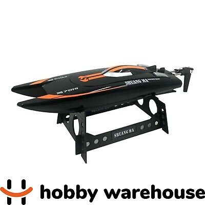 Double Horse 7014 2.4GHz RC Racing Boat Black with Red