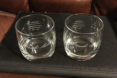 JACK DANIELS Frank Bobo Master Distiller 1966-1988 Tennessee Whiskey Glass