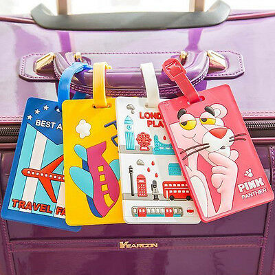 Luggage Tags Strap Name Address ID Suitcase Baggage Travel Label Tag Reusable