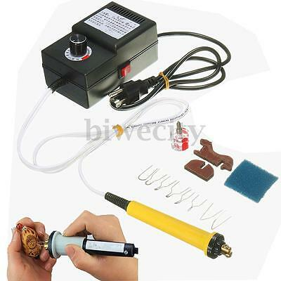 25W 110V Multifunction Gourd Wood Pyrography Machine Heating Wire Pen Adjustable