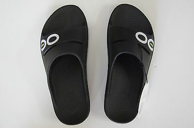 Oofos Sports Slide Shoe - Black - Bowls Australia Approved