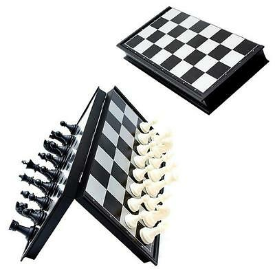 Portable Magnetic Foldable Wooden Board Box Tournament Chess Set Kids Toy Gift