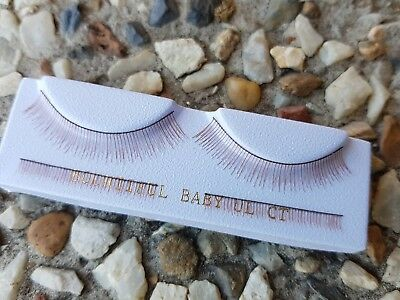Reborn Baby Doll Carrot Upper and Lower Eyelashes Lashes Supplies 4 Piece