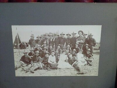 Group photograph of US Spanish American War Soldiers