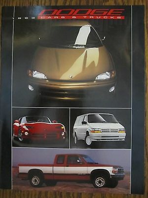 1993 Dodge  Cars and Truck with Viper    Sales Info Brochure
