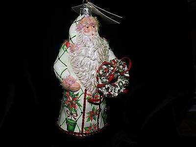 Patricia Breen Jeweled Stately Santa Done In Poinsettia's