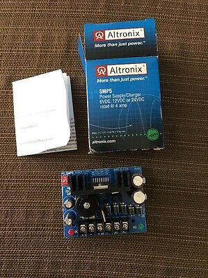 Altronix SMP5 Power Supply/Charger 6, 12, or 24VDC NEW