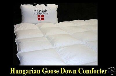 Queen Size Hungarian Goose Down Comforter - Warm 850-900 Fill Power