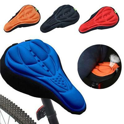 Cycling Bike Bicycle 3D Silicone Saddle Seat Cover Gel Cushion Soft Comfort Pad#